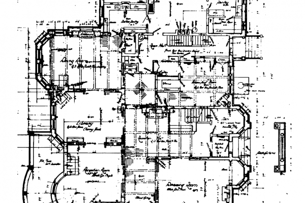 Original First Floor Plan - Office of Archaeology and Historic Preservation